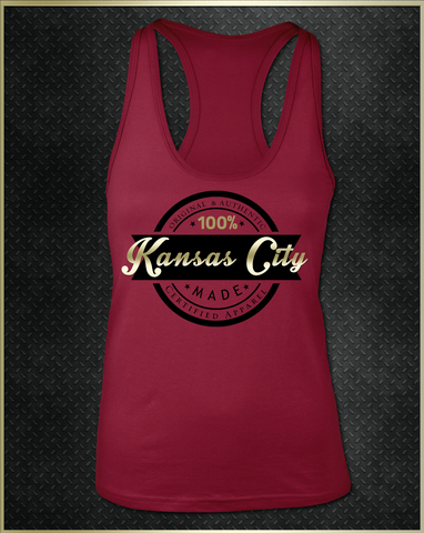 """Kansas City Logo"" Women's Razorback Tank Top"