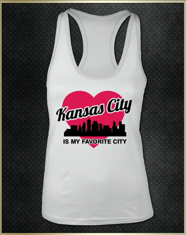 """Kansas City Heart"" Women's Razorback Tank Top"