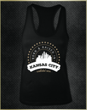 """Kansas City Born"" Women's Razorback Tank Top"