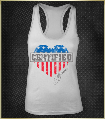 """American Dream"" Women's Razorback Tank Top"