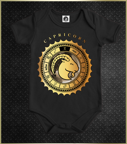 """Capricorn"" Babies Astrology Onesie"