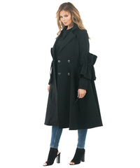 Black Flared Arm Coat