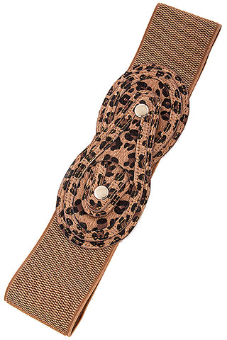 Animal Print Wide Belt
