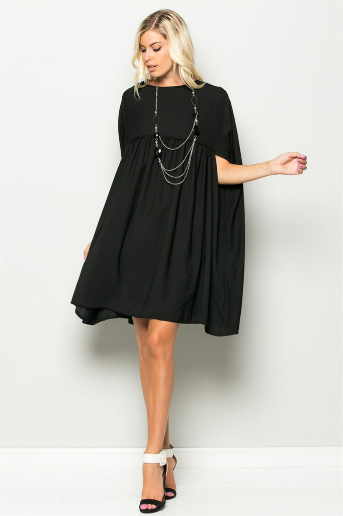 Covered Shoulder Shirt Dress