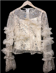 Sparkle Bright Sheer Sequin Top