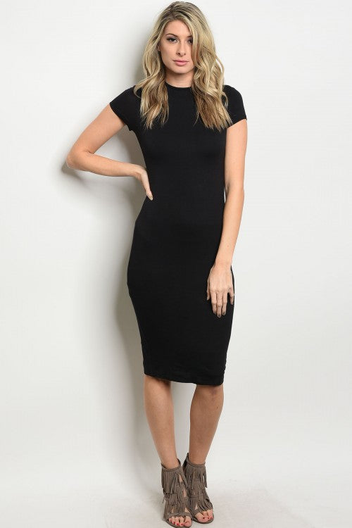 Black Slimming Bodycon Dress
