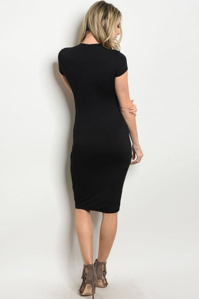 b13f55f268 Black Slimming Bodycon Dress – ICONIC7