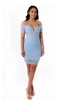 Light Blue Sheer Bodycon Dress