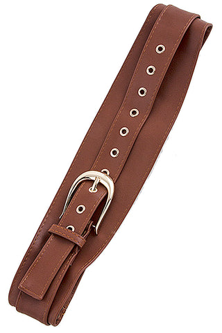 Faux Brown Overlapping Belt