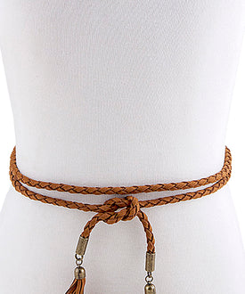 Brown Tassel Belt