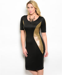 Black/Gold Panel Dress