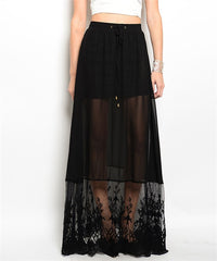 Three Tiered Black Skirt