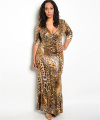 Animal Print Dress Curvy7