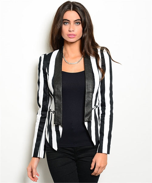 Black and White Panel Blazer