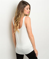 The Best is Yet to Come Graphic Tank -White