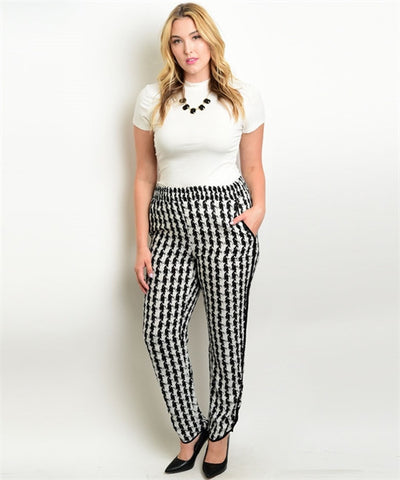 Houndstooth Pants Curvy7