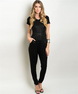 Black and Silver Jumpsuit