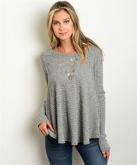 Gray Sway Knit Top