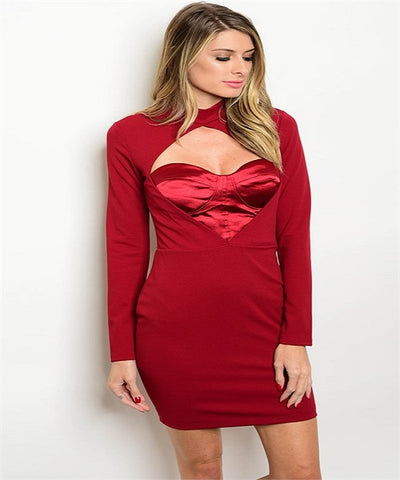 Deep Red Sweetheart Corset Dress