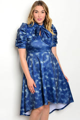 Blue Haze High- Low Dress Curvy7