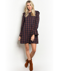 Hunter Green/Blue Plaid Top/Dress