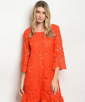 Red Tomato Lace Embroidery Dress
