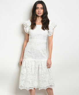 Pure White Lace Dress