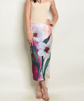 Rebecca Pencil Skirt Flowers