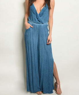 Sasha Denim Inspired Jumpsuit