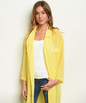 Yellow Sheer Dress Duster