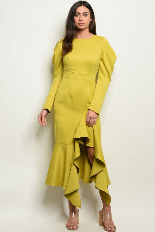 Deep Yellow Lime Dress