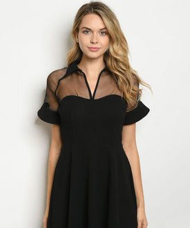 Sheer Peter Pan Dress