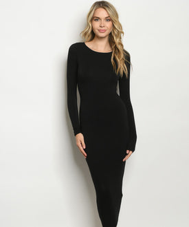 Iconic Body Slimming Midi Dress Black