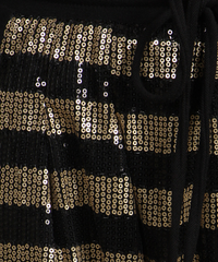 Black and Gold Sequins Pants