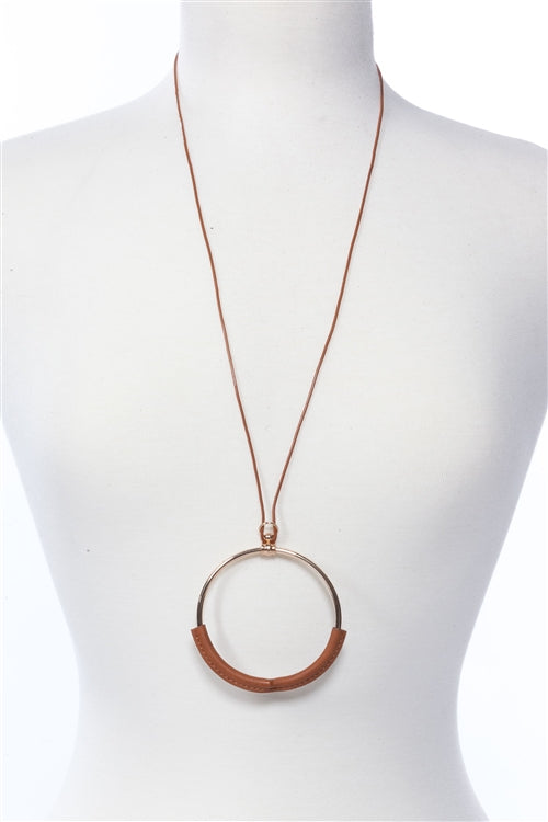 Circle Tan Necklace