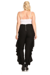 Curvy7 Black Lace-Up Pants
