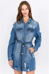 Been Around the World Denim Jacket/Dress