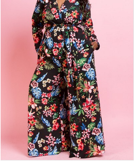 Heather Floral Pants (Only)