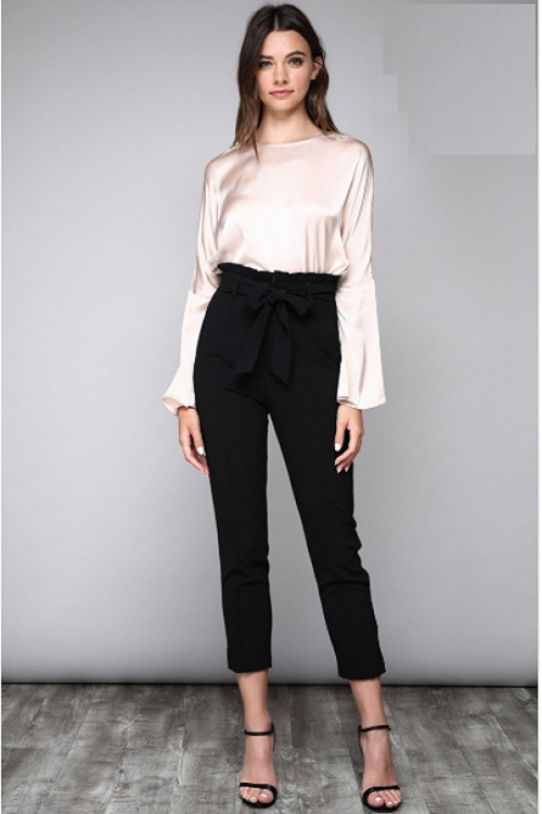Curvy7 High-Waisted Black Pants