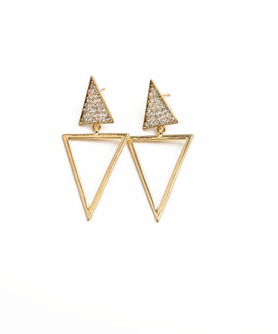 Open Point Triangle Earrings