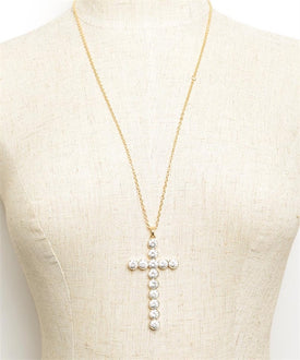 Gold-Tone Cross Necklace