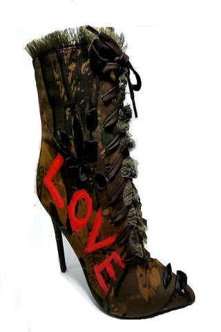 Love Junkie Camo Booties/Shoes
