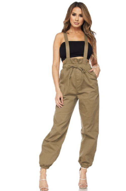 Olive Highwaisted Jumpsuit