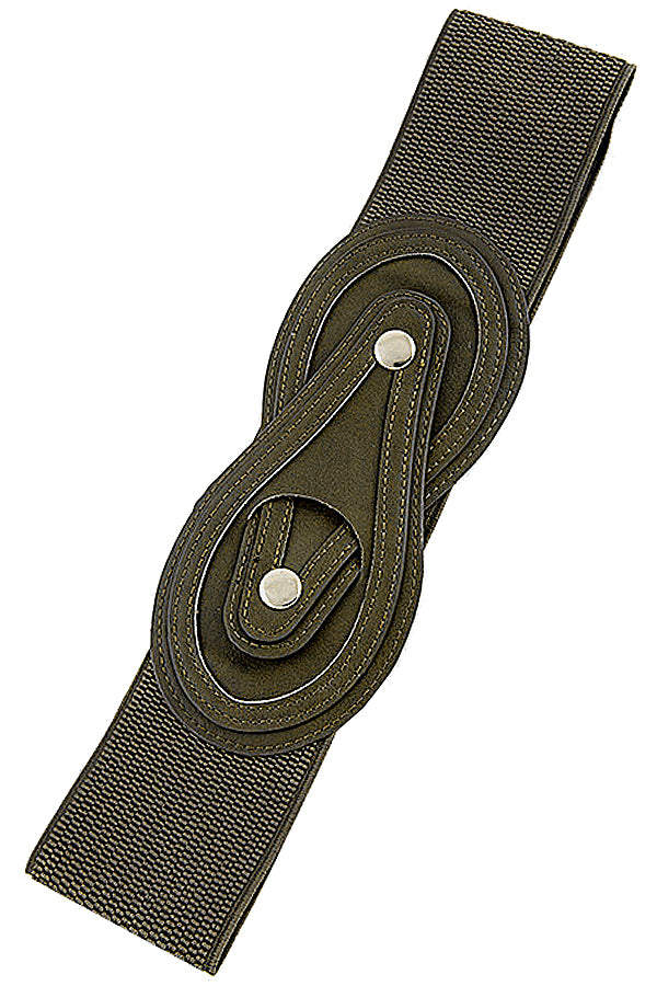 Deep Olive Wide Belt
