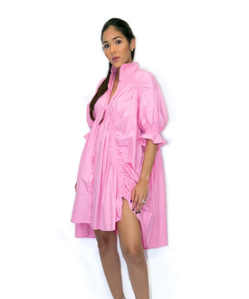 Pink Shirt Dress Top