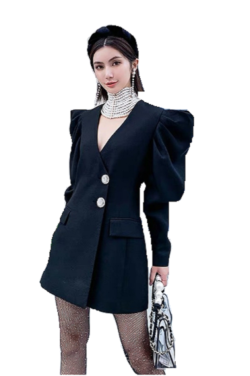 Power Sleeve Blazer Top/Dress