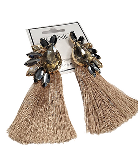 Golden Glow Tassel Earrings