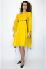 Samantha Tulle Yellow Tassel Dress