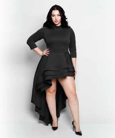 Black Hi-Low Shirt/Dress