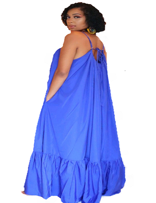 Blue Wide Maxi Dress